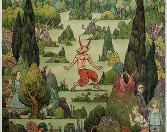 Hide and Seek in the Devils Garden - original painting