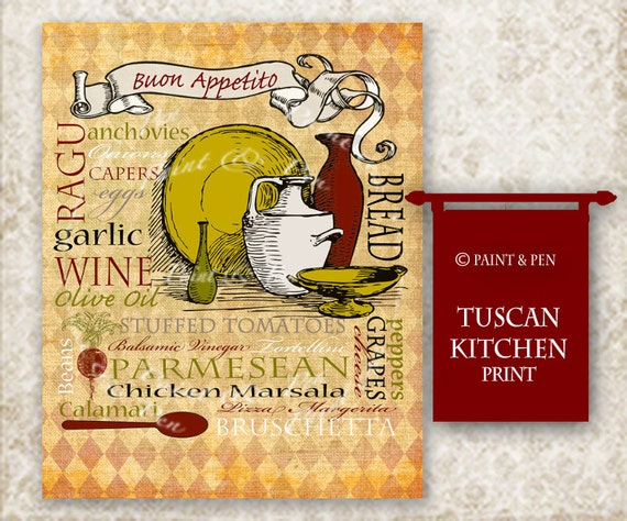 Tuscan Kitchen Decor Tuscan Wall Art Italian Kitchen Sign