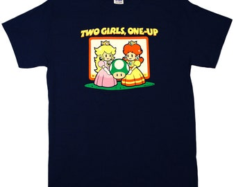 Two Girls, One-Up Men's T‑Shirt