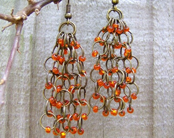 The Elegant Bohemian chainmaille earring that is individual, romantic and free-spirited. This style is often called hippie-chic or hobo-chic