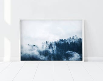 Forest Print/ Forest Photography/ Forest Wall Art/ Nature Prints/ Forest Art/ Wilderness Poster/ Woodland Prints/ Modern/ Printable Art