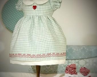 "Reggie's Pretty Party Dress pattern PDF -Fits Waldorf doll 16"" to 18"""