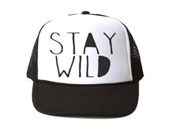 Stay Wild Trucker Hat - Youth and Adult, Trucker Hat, Kid's Hat, Summer Hat, Baby Hat, Summer Accesories