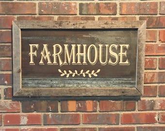 Rustic Farmhouse Tin/Wood Sign