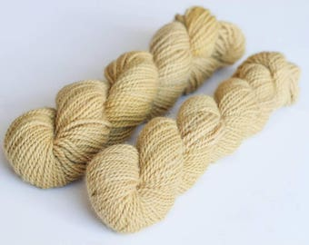 NATURALLY DYED Alpaca yarn Sport Weight 110 Yards 50 grams Hand-dyed Coreopsis