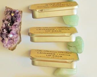 Lip Balm - Lavender Oil + Cocoa butter - Lip Butter - Natural lip balm - Chap Stick - Chemical Free Lip Balm - Beeswax Lip Balm