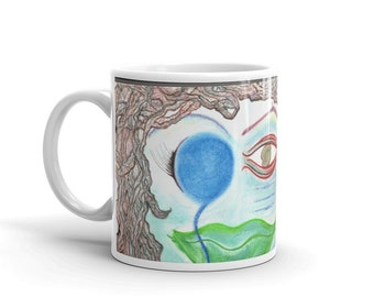 Coffee Mugs with Dreadlocks and quotes