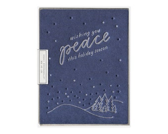 Wishing You Peace letterpress card - set of six