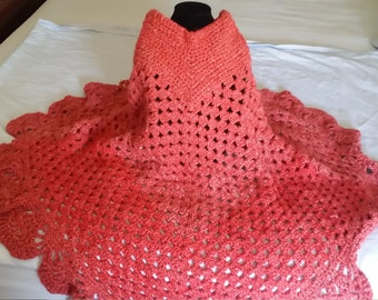 Crochet Poncho - Ready to Ship