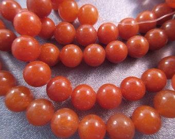 Peach Aventurine Round 8mm Beads 48pcs