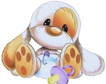 Baby Bunny Cross Stitch Pattern