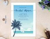 Beach Bridal Shower invit...