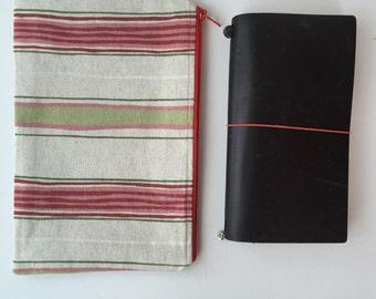 Traveler's Notebook Bag - Midori - Moleskine - Leuchtturm - TN bag - TN Pouch - Journal Bag - Personal Planner - Chic Sparrow