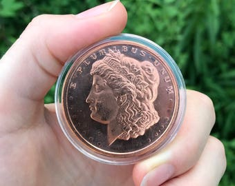 Copper Coin Medallion - Morgan Head