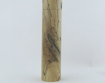 Spices and peppermill grinder in spalted Maple, Cylinder style with rod mechanisme  10,625 inch X 2 375 D, article no: 962