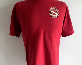 Vintage Men's 90's Moondogies, T Shirt, Red, Short Sleeve (XL)