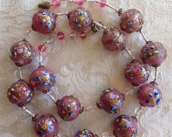 Beautiful Vintage Wedding Cake beaded necklace