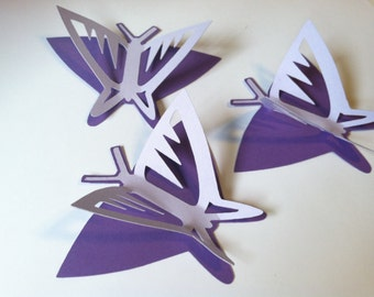 3D butterfly wall art, wedding butterflies, Native butterfly silhouettes, table butterflies 20 count