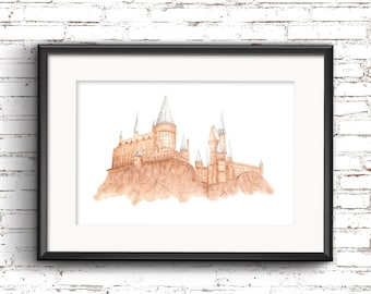 A4 Hogwarts Harry Potter Print