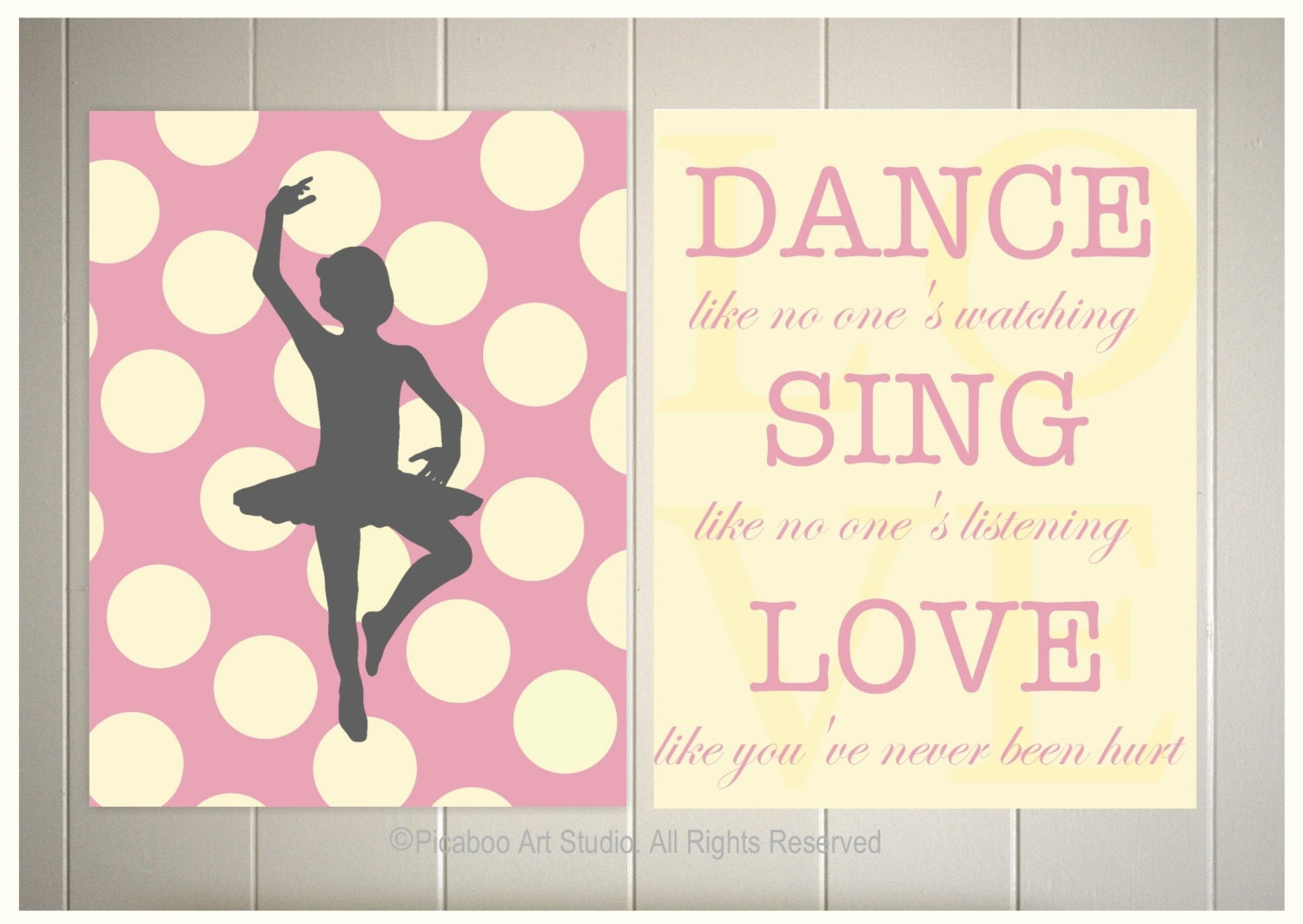 Inspiring Quotes For Teens Nursery Art Baby Girl Nursery Ballerina Nursery Polka Dot
