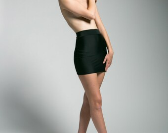 Caviar Black Bodycon Mini-Skirt