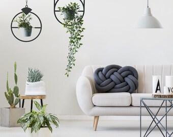 Set of 2 metal plant holder, wall planter, wall art plant, laser cut, pot hanger, Bohemian Home Décor, living room decor,  Hanging Planter