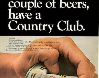 1968 Contry Club malt liquor vintage magazine ad (1705)