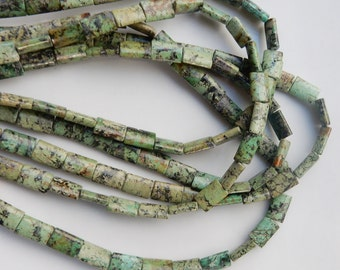African  Turquoise (jasper) Chicklet beads,  (12x8mm) FULL STRAND