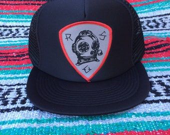 Ride Or Sink R.O.S Deep Sea Diver Patch trucker hat