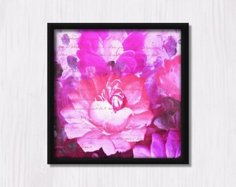 Painted Roses 1 - Instant Downloadable Art Print Digital Wall Art Printable Nature Roses Floral Painting Art Home Decor