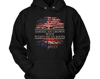 American Grown With Puerto Rican Roots Hoodie