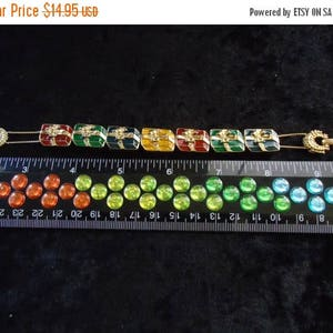 ON SALE Vintage Multi Color Gifts Bracelet Retro Collectible Costume Jewelry