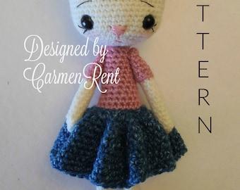Katia 10 1/2 inches- Amigurumi Doll Crochet Pattern PDF