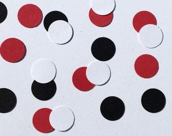 225 Black White Red Confetti Birthday Confetti Wedding Shower Confetti Polka Dot Confetti Black Confetti White Confetti Red Confetti