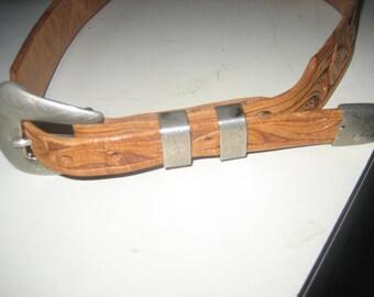 RENALDE Leather & solid Nickel Belt from Colorado