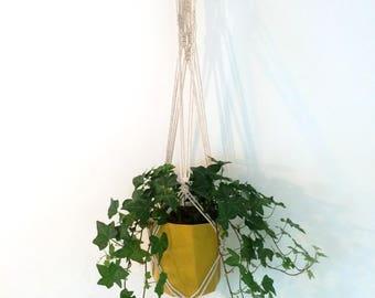 Woven off white cotton hanger