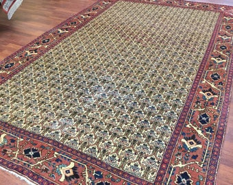 Antique Persian allover Heriz Rug-1349