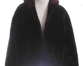 Teddy Bear Coat Oversized Vintage Shearling Coat Sheepskin Coat Women Brown Fur Coat Vintage Winter Coat Warm Winter Coat Hipster
