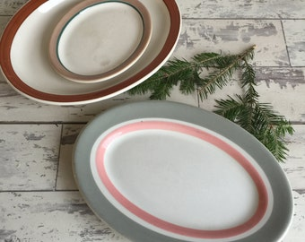 Vintage Restaurant Ware Platters - Homer Laughlin - Syracuse - Shenango - Small Medium Large