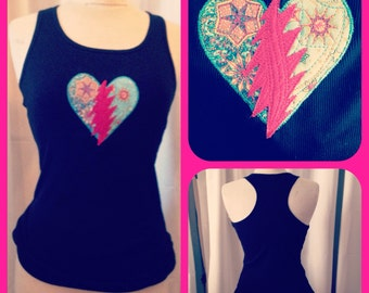 ReSeRVeD for: moonbeam1120 ... Steal Your Heart - Stole My Heart... Grateful Dead NWT - Tank-ToP Handmade FREE ShipUpgrade in USA