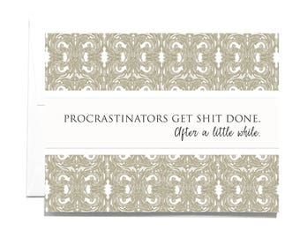 Procrastinators Note Card