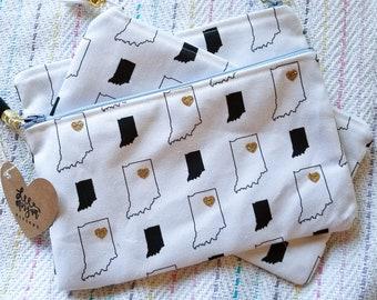 Indiana Pattern Zipper Pouch | Makeup Bag | Pencil Case