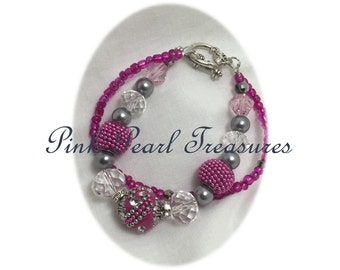 Party pink stretch bracelet