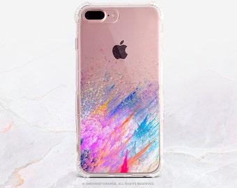 iPhone 8 Case iPhone X Case iPhone 7 Case Splatter Clear GRIP Rubber Case iPhone 7 Plus Clear Case iPhone SE Case Samsung S8 Plus Case U106