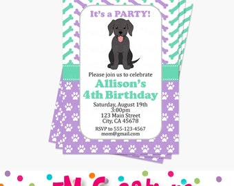 CHOOSE YOUR PUPPY - Puppy Birthday Party Invitations - Dog Birthday Party Invite - Printable Invite - Puppy Adoption Party Invitations - Lab
