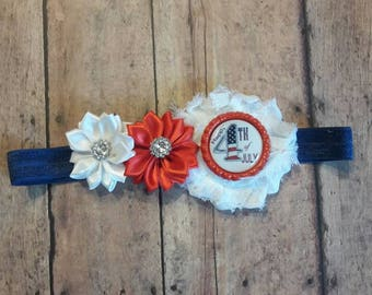 Happy 4th of July boutique headband.