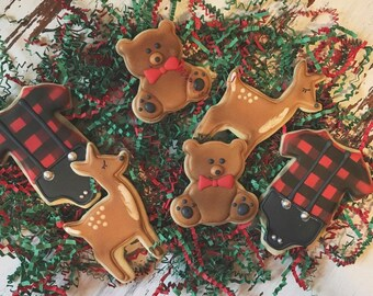 Handcrafted Buffalo Plaid Baby Shower Cookies