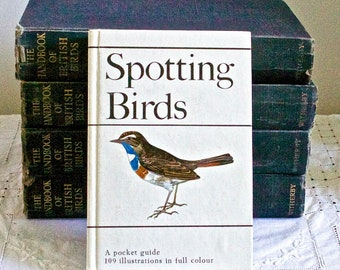 "Vintage bird guide ""Spotting Birds""  by J Duris"