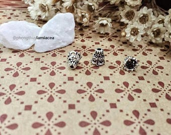 Silver charm s925 thai silver diy torus S925 silver crafted flower torus bead caps 1034138