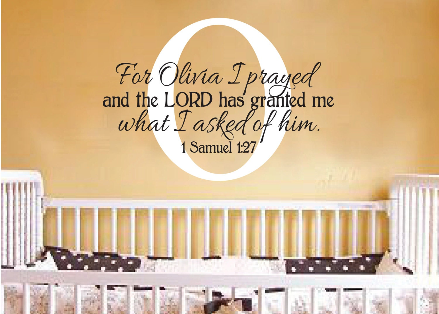 Monogram Personalized nursery scripture bible wall art 1